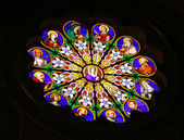 Stained glass in Basilica of St. Peter, Vatican, Rome — Stock Photo