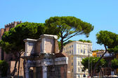 Rome, Italy. The Roman Forum (Latin: Forum Romanum) — Stock Photo