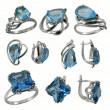 Jewelry with sapphire — Stock Photo #37759315