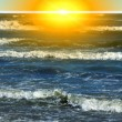 Stock Photo: Sea. Sunlight