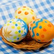 Easter painting eggs — Stock Photo