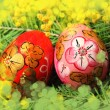Stock Photo: Easter painting eggs