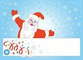 Papai Noel e cartão — Fotografia Stock
