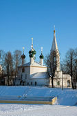 Christian Russian monasteries and churches in Yaroslavl city — Stok fotoğraf