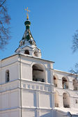 Bell tower in Russia, Kostroma city, Ipatievsky monastery — Stock Photo