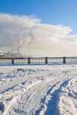 Winter scenery in Kostroma city, Russia — Stock Photo