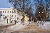 Winter scenery in Kostroma, Russian city — Stock Photo