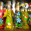 Stock Photo: Bottles with wine and liquors San-marino