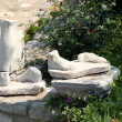 Stock Photo: Old marble Foots