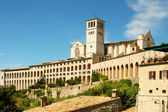Italian city of Assisi, monastery of saint Francesco — Stock Photo