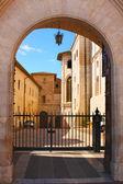 Italian city of Assisi, monastery of saint Francesco — Stock Photo