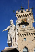 Statue in Republic San Marino — Stock Photo
