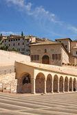 Italian city of Assisi, monastery of saint Francesco — Стоковое фото