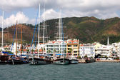 The sea and yachts. Turkey. Marmaris — Stock Photo