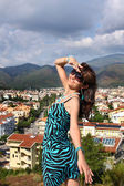 Woman in popular resort city of Marmaris in Turkey — Stock Photo