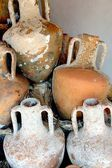 Greek amphoras — Stock Photo