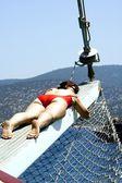 Dreams on a yacht — Stock Photo