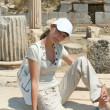 Pretty traveller in Ephesus — 图库照片 #38917721