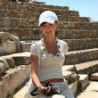 Pretty traveller in Ephesus — Stock Photo #38917751
