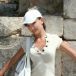 Pretty traveller in Ephesus — 图库照片 #38917807