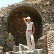 Stockfoto: Pretty traveller in Ephesus