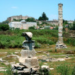 Ancient greek temple of goddess Artemis in Ephesus — Stock Photo #38917989