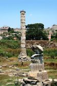 Ancient greek temple of goddess Artemis in Ephesus — Stock Photo