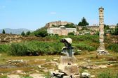 Ancient greek temple of goddess Artemis in Ephesus — Foto de Stock