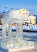 Russian town Kostroma city, Icy sculpture — Photo
