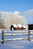 Old russian village — Zdjęcie stockowe