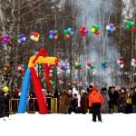 Russian holiday the Pancake week — Stock Photo