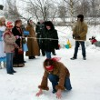Stockfoto: Winter holidays in Russia. Pancake week.