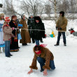 Stock fotografie: Winter holidays in Russia. Pancake week.