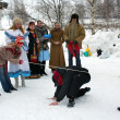 Winter holidays in Russia. Pancake week. — Stok Fotoğraf #39498133