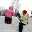 Winter holidays in Russia. Pancake week. — Stockfoto #39498137