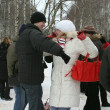 Winter holidays in Russia. Pancake week. — Stockfoto #39498221