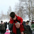 图库照片: Winter holidays in Russia. Pancake week.
