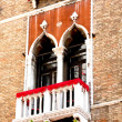 Italy. Venetian architecture. Balcony and Windows — Stock Photo