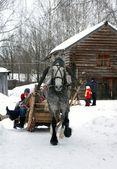 Vacaciones de invierno en rusia. semana de panqueque. — Foto de Stock