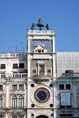 Italy. Venetian architecture - tower clock — Stock Photo