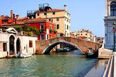 Italian Venice. Bridge — 图库照片
