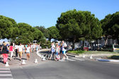 Antibes, people in city, France — Stock Photo