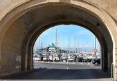 The harbor Antibes, France — Foto de Stock