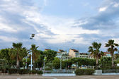 Cannes resort, evening — Stock Photo