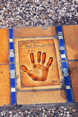 Wydruku dłoni ręki znany aktor kina Jean paul belmondo — Zdjęcie stockowe