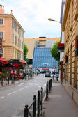 Azure coast of france, street in Cannes — Stock Photo