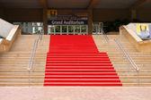 レッド カーペットは、人気のある映画祭の宮殿 — ストック写真