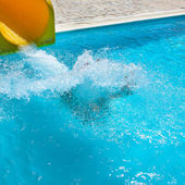 Pool on a Crete, sparks of water — Stock Photo