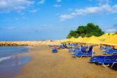 Paesaggio, spiaggia una creta — Foto Stock