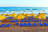 Landscape, beach on a Crete — Stock Photo